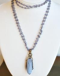 Medici Blue Tanzanite Drop Necklace
