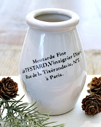 French Moutarde Fine Mustard Pot