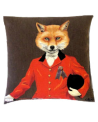 The Honorable Major Fox Pillow Cover