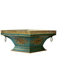 French Toleware Footed Cachepot Jardiniere