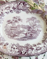 Gorgeous Purple Plum Transferware Serving Platter Royal Staffordshire