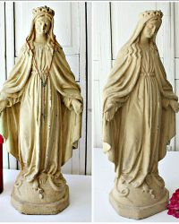 Large 19th Century Town Square Madonna Statue