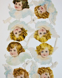 Victorian Raphael Tuck Angels Die Cuts Scrap