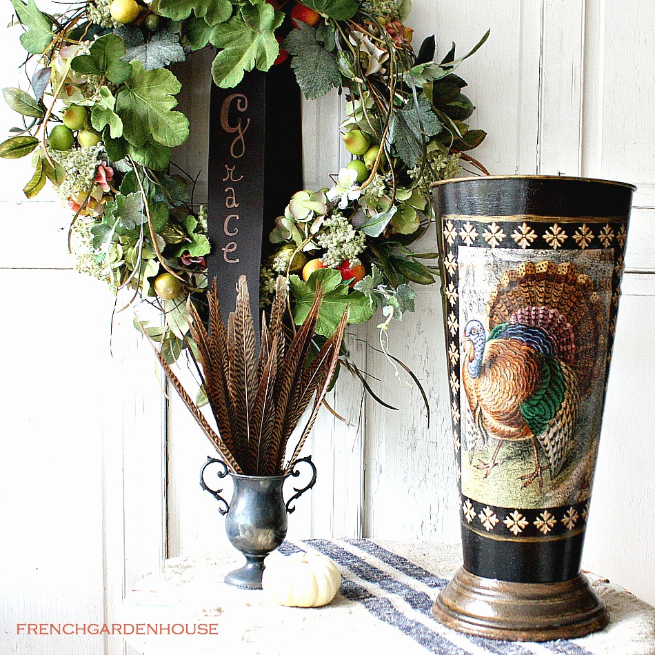 Limited Edition French Metal Flower Bucket Turkey