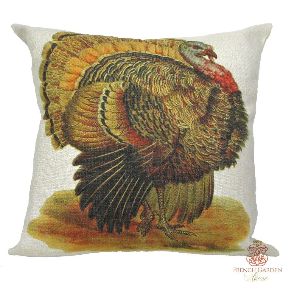 Turkey Throw Pillow Cover