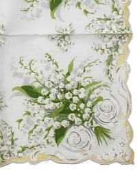 Vintage Handkerchief Lily of the Valley