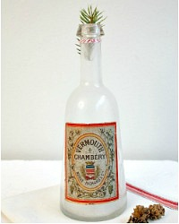 Antique Hand Blown French Bottle Vermouth Label