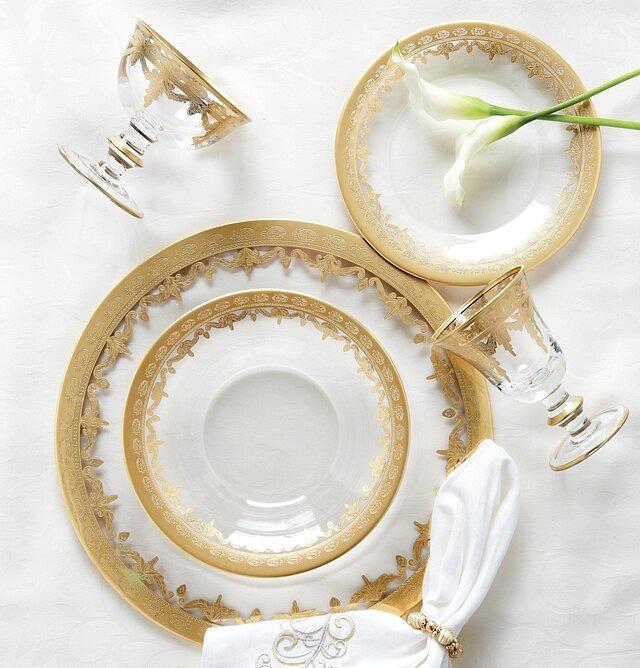 Arte Italica Vetro Gold Wine Glass