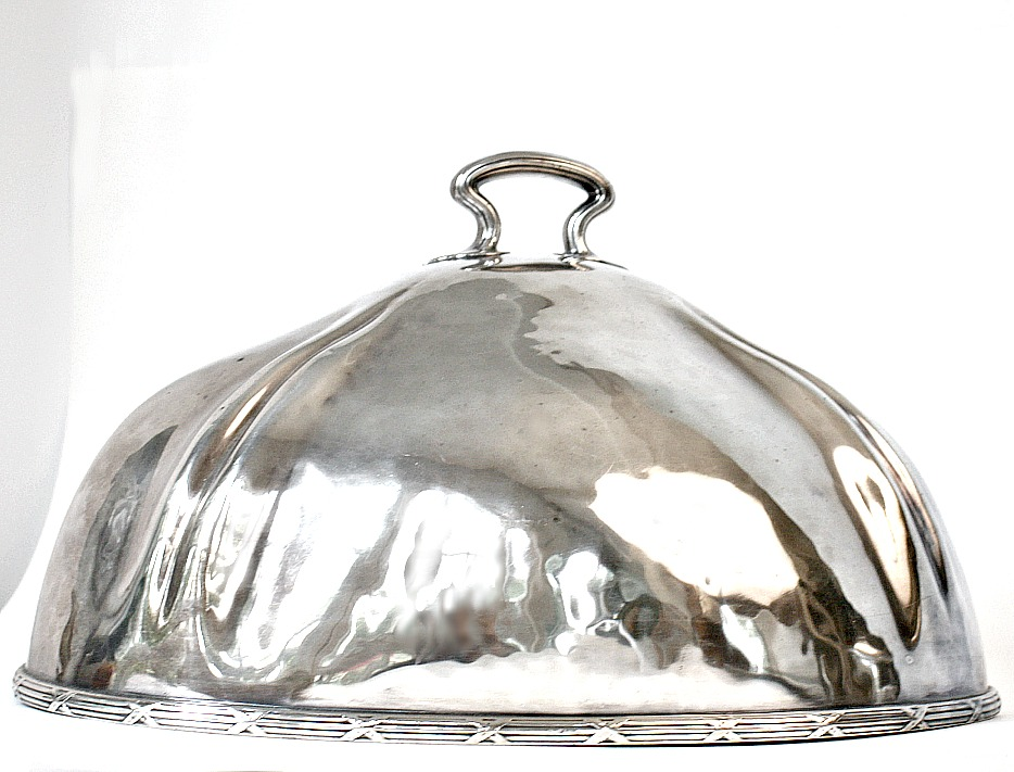 Vintage 1925 Paris Victor Hugo Hotel Silver Food Meat Dome