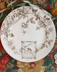 Amazing Antique Aesthetic Brown BIRDS Plates Set of 6