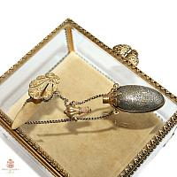 Antique Victorian Gilt Chatelaine Perfume