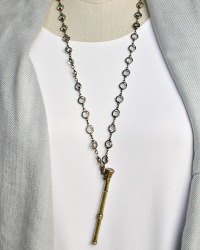 Antique Gold Billet Doux Citrine Necklace