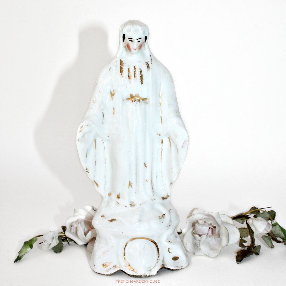 19th Century Old Paris Vieux Paris Porcelain Madonna