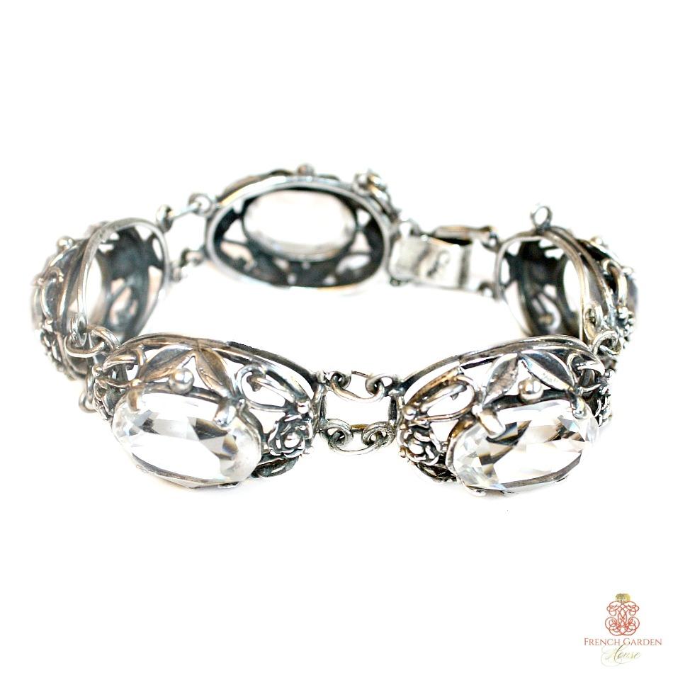 Vintage Sterling Silver CINI Statement Bracelet Signed