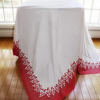 Vintage Large Red and White Cherries Tablecloth