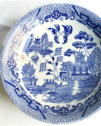 Vintage Blue Willow Chinoiserie Bowl Dessert Set of 4