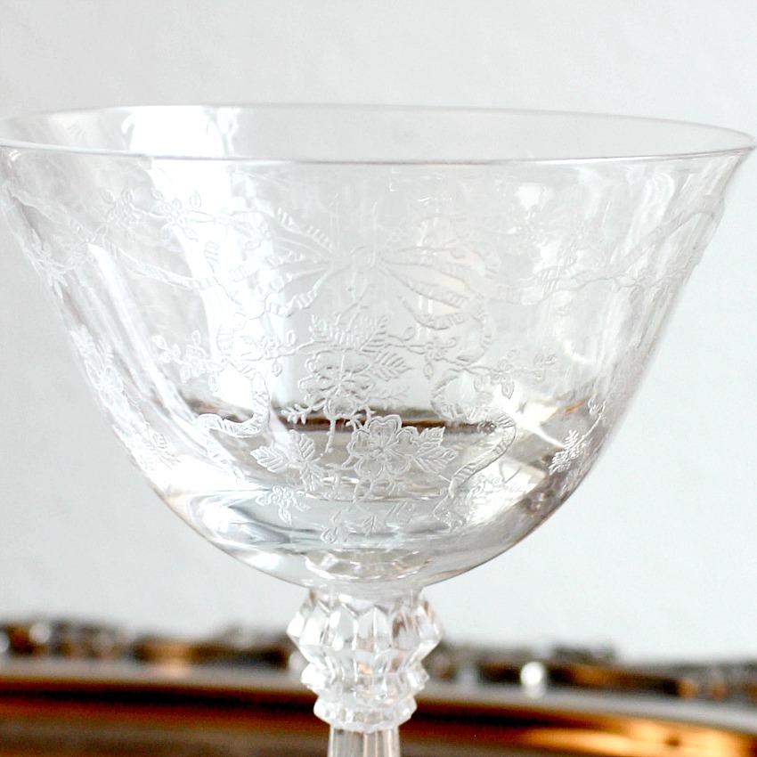 Vintage Fostoria Romance Champagne Coupes Set 4