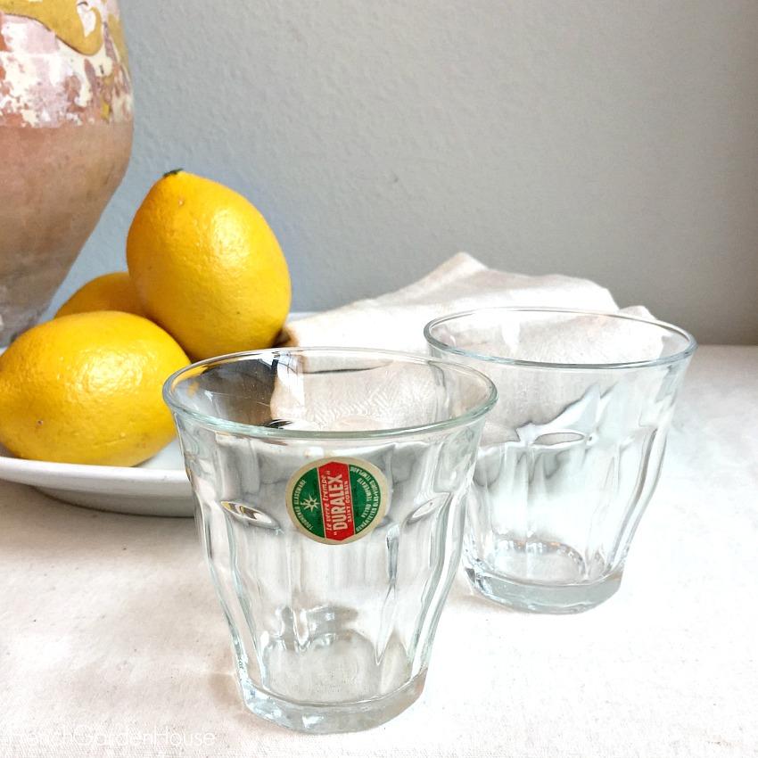 Vintage French Cafe Bistro Glasses Set of 6
