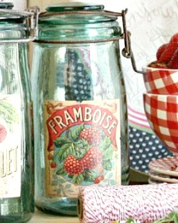 Vintage French Canning Jar Framboise