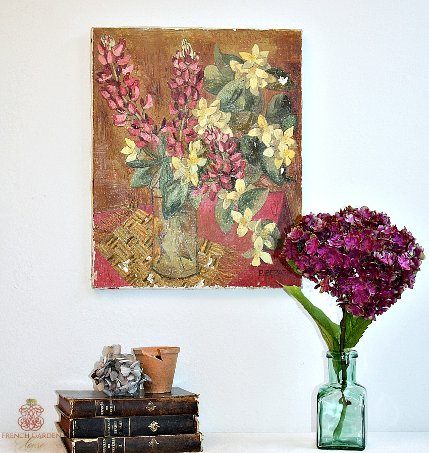 French Flea Market Oil Painting Flowers