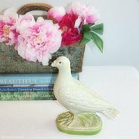 Vintage 1920's French Plaster of Paris Dove Bank