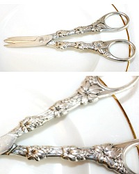 Vintage Silver Plate Grape Scissors Shears