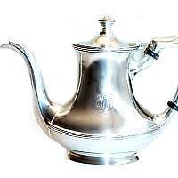 Vintage Hotel Silver Tea Pot W H