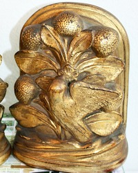 Vintage Gilt Borghese Bookends Birds