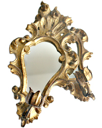 Italian Gilt Carved Florentine Candle Wall Sconces Pair