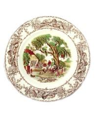Vintage Staffordshire Transfer Plate Rural Scenes