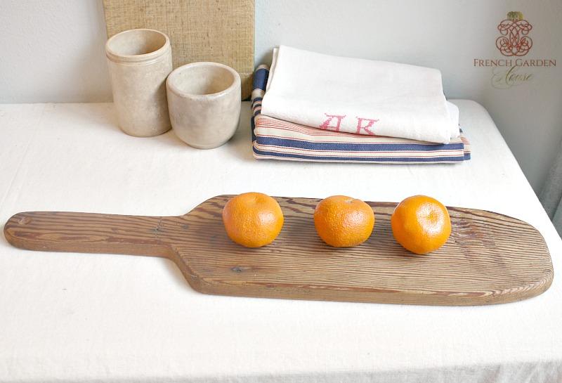 Rustic Vintage Wood Baguette Board