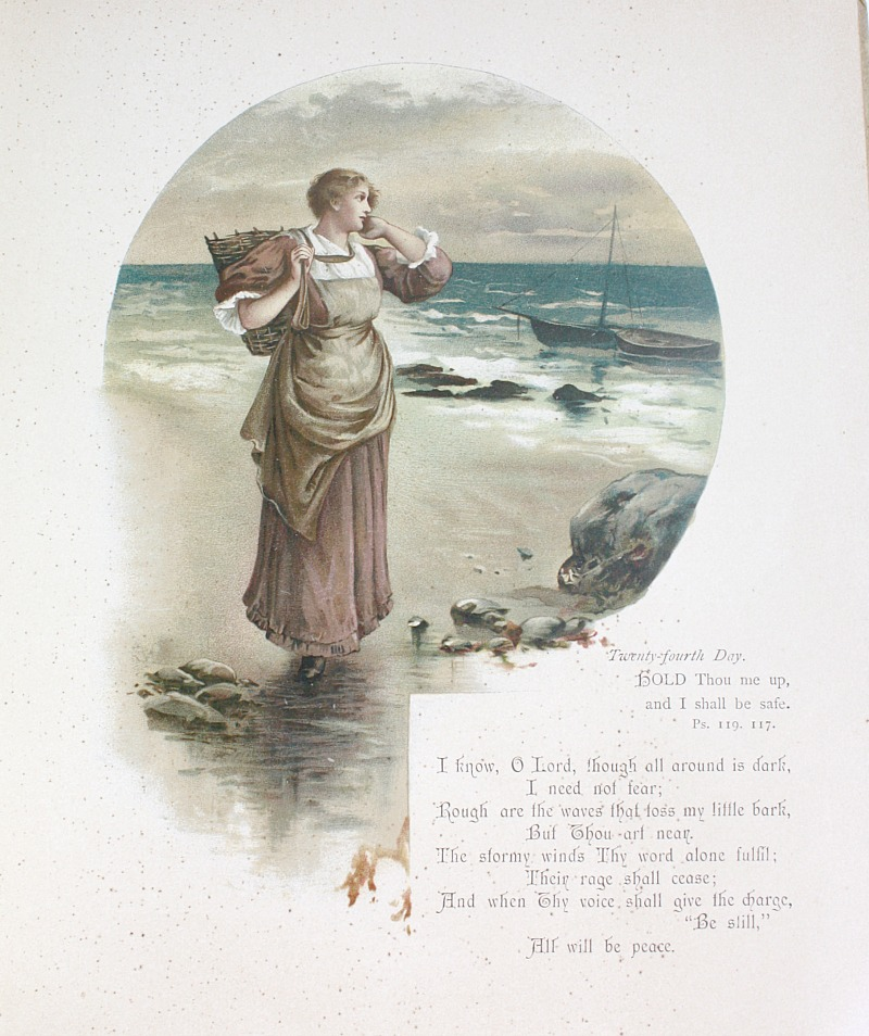 19th Century Scripture Hymns Book Nister Chromolithographs