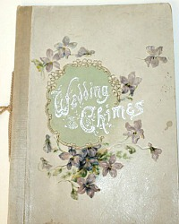Antique WEDDING CHIMES Poetry Book Chromolithographs