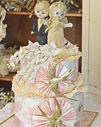 Vintage 1920's Cake Topper Wedding Keepsake Memory Cake Box