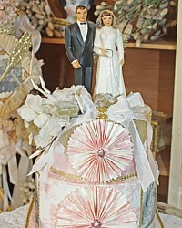 Vintage Cake Topper Wedding Keepsake Memory Cake Box