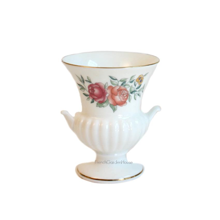 Vintage Miniature Wedgwood Urn Toothpick Vase Roses