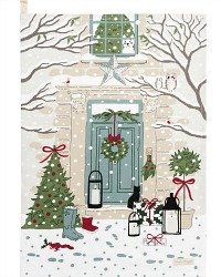 Country Holiday Home Winter Tea Drying Towel