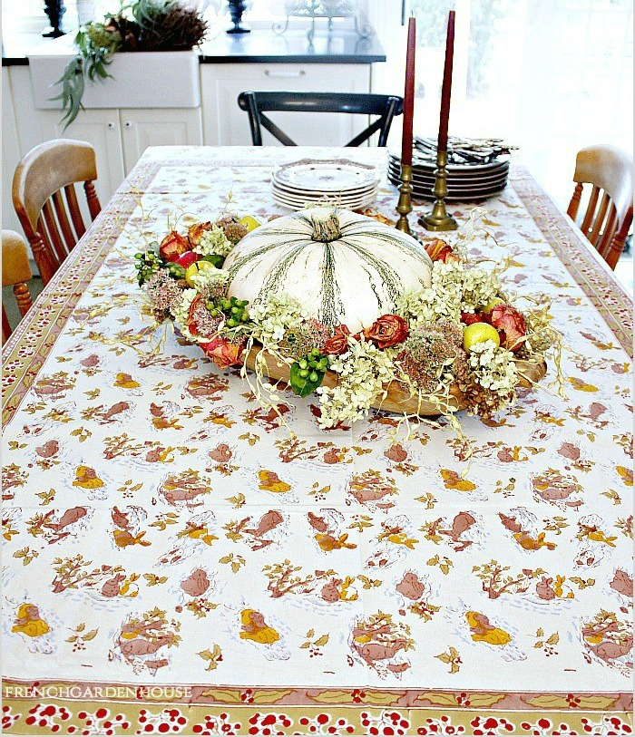 French Country Hares Tablecloth
