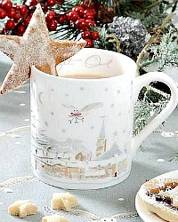 Winter Holiday Barn Owl Cup