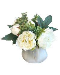 Coco Peony Bouquet White