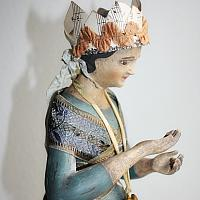 Vintage Reproduction Papier Mache Santos Doll