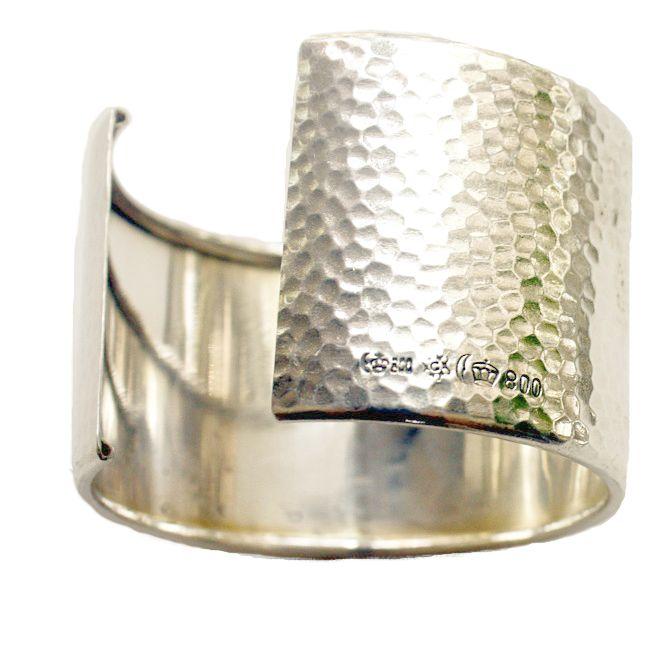 KDL Antique Art Deco Silver Monogrammed Cuff Bracelet