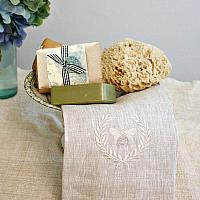 Luxurious European Linen Towel Napoleonic Bee Flax
