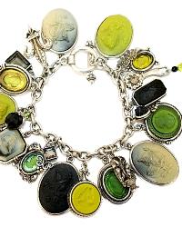 Extasia Silver Mythology Cameo Charm du Jour Bracelet