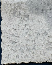 French Net Alencon Lace Wedding Handkerchief