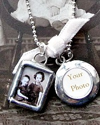 Childhood Memories Ami Girls Sterling Photo Artist Charm Necklace