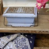 Antique French Blue Enamelware Warmer