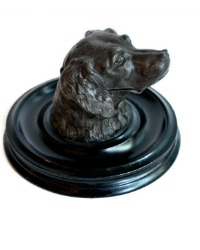 Antique 19th Century Dog Inkwell
