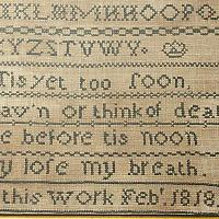 Antique Textile 1829 Sampler of Sarah Ash