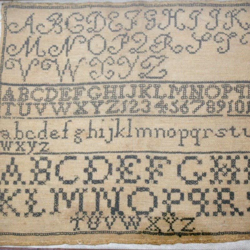 Antique 19th Century Sampler ABC